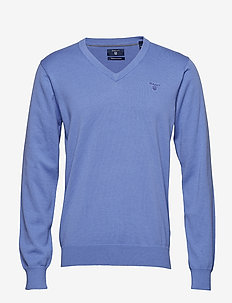LT. WEIGHT COTTON V-NECK - PERIWINKLE BLUE