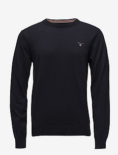 COTTON WOOL C-NECK - rund hals - navy
