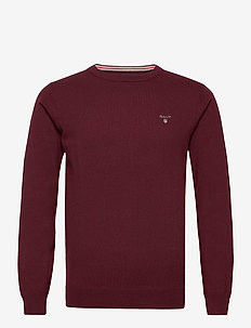 COTTON WOOL C-NECK - pyöreäaukkoiset - port red
