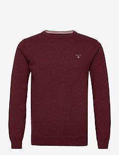 COTTON WOOL C-NECK - knitted round necks - port red