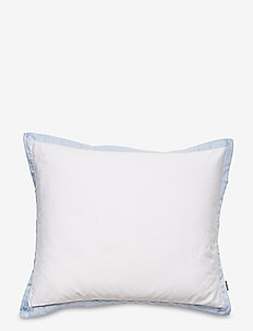 SATEEN BORDER PILLOWCASE - pillowcases - hamptons blue