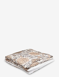 DAHLIA FLOWER SINGLE DUVET - dekbedovertrekken - dry sand