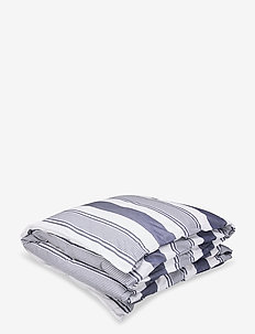 MEMORY STRIPE SINGLE DUVET - dekbedovertrekken - yankee blue