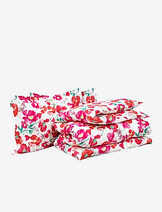 BLOOMING D/D SET WITH 2 P/C - bedding sets - red