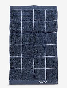 WINDOW CHECK TOWEL 30X50 - towels - sateen blue