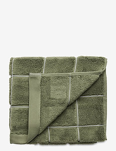 WINDOW CHECK TOWEL 50X70 - towels - agave green