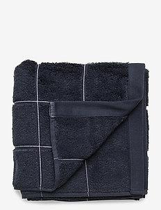 WINDOW CHECK TOWEL 50X100 - ręczniki kąpielowe - sateen blue