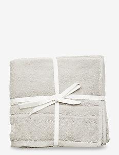 ORGANIC PREMIUM TOWEL 50X70 2-PACK - towels - light grey