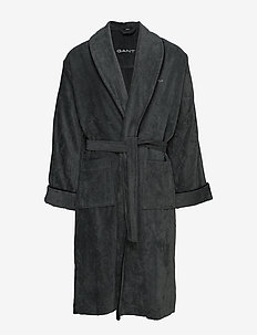 PREMIUM VELOUR ROBE - bathrobes - antracite