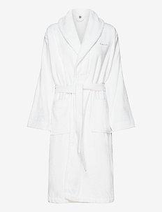 TERRY BATHROBE - bathrobes - white