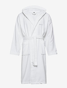LIGHT VELOUR ROBE - bathrobes - white