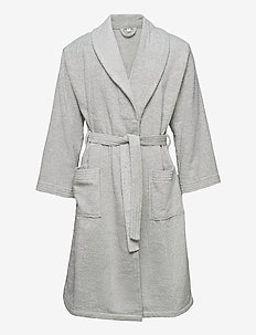 ORGANIC TERRY BATHROBE - bathrobes - light grey