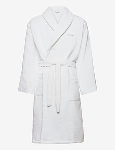 ORGANIC TERRY BATHROBE - bathrobes - white