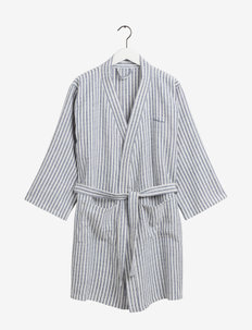 STRIPE ROBE - bathrobes - moonlight blue