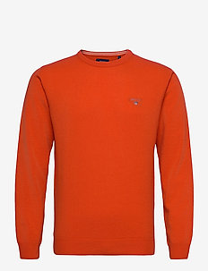 SUPERFINE LAMBSWOOL CREW - basisstrikkeplagg - atomic orange