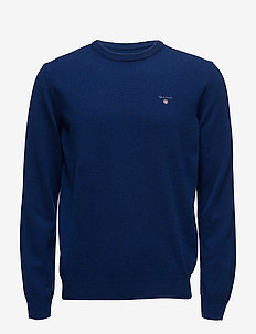 SUPERFINE LAMBSWOOL CREW - basic knitwear - college blue