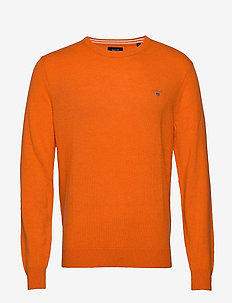 SUPERFINE LAMBSWOOL CREW - HARVEST PUMPKIN