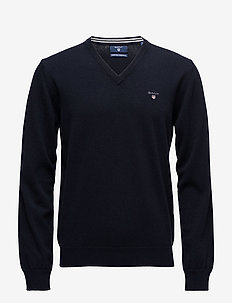 SUPERFINE LAMBSWOOL V-NECK - basic-strickmode - marine