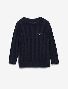COTTON CABLE CREW - strickmode - evening blue