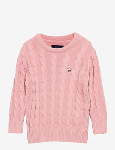 COTTON CABLE CREW - habits tricotés - preppy pink