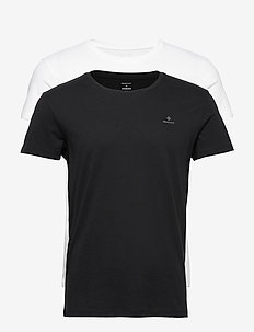 BASIC 2-PACK CREW NECK T-SHIRT - BLACK / WHITE