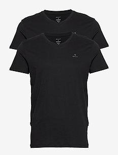 BASIC 2-PACK V-NECK T-SHIRT - multipack - black