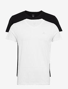 BASIC 2-PACK V-NECK T-SHIRT - multipack - black / white