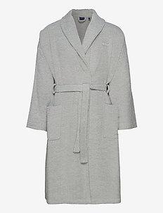ORGANIC TERRY BATHROBE - robes - light grey
