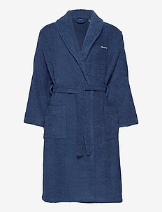 ORGANIC TERRY BATHROBE - morgonrockar - yankee blue