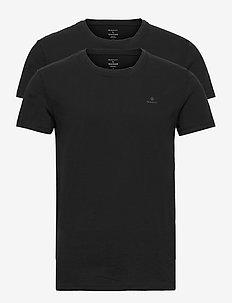 C-NECK T-SHIRT 2-PACK - t-shirts basiques - black
