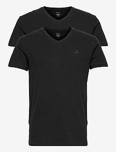 V-NECK T-SHIRT 2-PACK - basic t-shirts - black