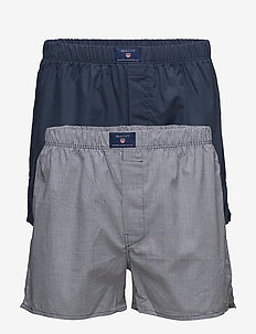 2-P BOXER SH GING SOLID TUNNEL - NAVY