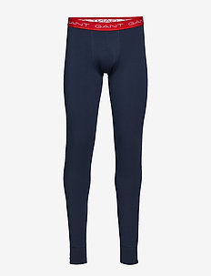 LONG JOHNS SOLID COTTON STRETCH - MARINE