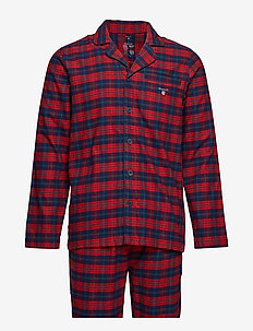 PAJAMA SET SHIRT FLANNEL GIFT BOX - RED