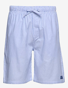 WOVEN PAJAMA SHORTS CLASSIC STRIPE - bottoms - white