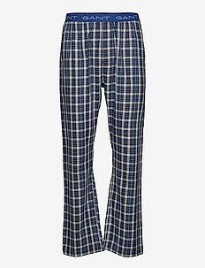 WOVEN PJ PANTS BLUE CHECK - pyjamas - marine