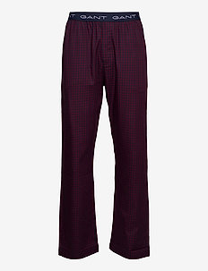 WOVEN PJ PANTS GINGHAM CHECK - broeken - port red
