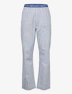 GRADIENT CHECK PAJAMA PANTS - pyjamat - salty sea