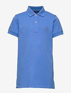 THE ORIGINAL SS PIQUE - polo shirts - pacific blue