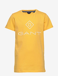 GANT LOCK-UP SS T-SHIRT - short-sleeved - mimosa yellow