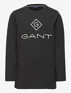 GANT LOCK-UP LS T-SHIRT - lange mouwen - black