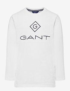 GANT LOCK-UP LS T-SHIRT - lange mouwen - white