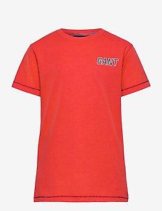 D1. GANT SPORT SS T-SHIRT - short-sleeved - atomic orange