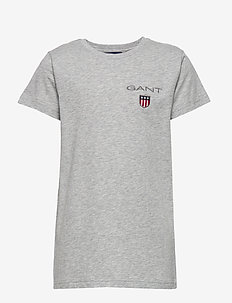 D1. MEDIUM SHIELD SS T-SHIRT - kortærmede - light grey melange