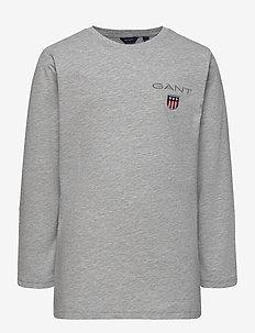 D1. MEDIUM SHIELD LS T-SHIRT - manches longues - light grey melange