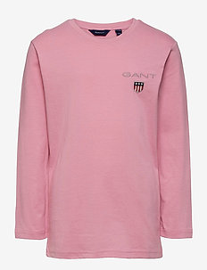 D1. MEDIUM SHIELD LS T-SHIRT - manches longues - sea pink