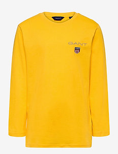 D1. MEDIUM SHIELD LS T-SHIRT - manches longues - solar power yellow