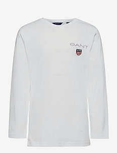 D1. MEDIUM SHIELD LS T-SHIRT - manches longues - white