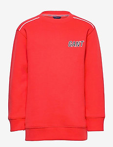 D1. GANT SPORT C-NECK SWEAT - sweatshirts - atomic orange