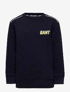 D1. GANT SPORT C-NECK SWEAT - sweatshirts - evening blue